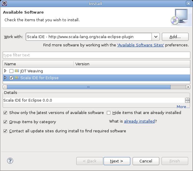 Installer le plug-in Scala IDE pour Eclipse - Chicoree